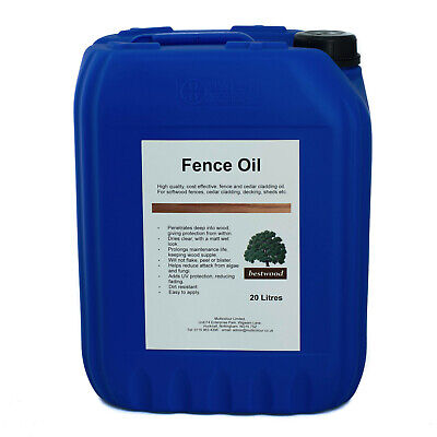 Fence Oil, 20 Litre 20L, Bestwood, Professional Clear Protection, UV Stable • 54.99£