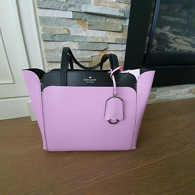 $ CDN175 • Buy Kate Spade Small Double Pocket Tote Top Zip Lavender Fashion WKRU6494