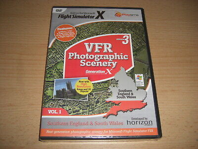VFR SCENERY Generation X Vol 1 Southern England South Wales Version 3 Pc FSX NEW • 25.99£