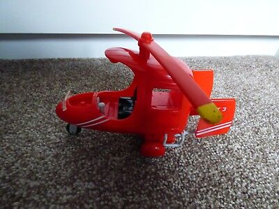 Postman Pat 3 Red Helicopter Smaller Size 2008 • 6.99£