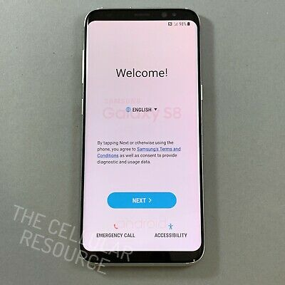 $ CDN234.63 • Buy Samsung Galaxy S8 SM-G950U 64GB Arctic Silver Unlocked *Medium Burns
