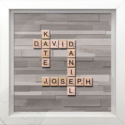 Scrabble Letter Personalised Family Name Picture Frame • 25£