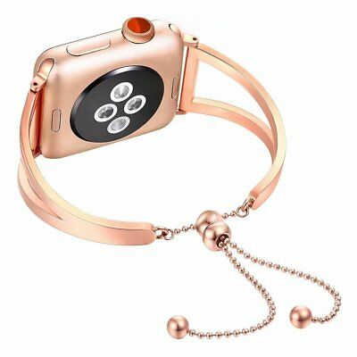 AU19.99 • Buy Rose Gold Wrist Band Bangle Cuff Bracelet For Apple Watch Series 5 4 3 2 1 6 Se