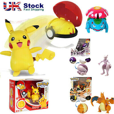 Deformation Pokeball Ball Transformation Toy Kids Action Figure Suit Doll Gift • 13.99£