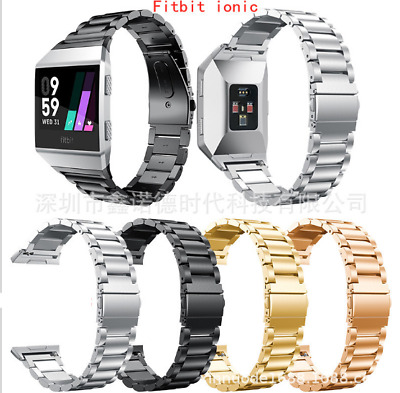 AU19.99 • Buy Classic Stainless Steel Metal Clasp Wrist Watch Band For Fitbit Ionic