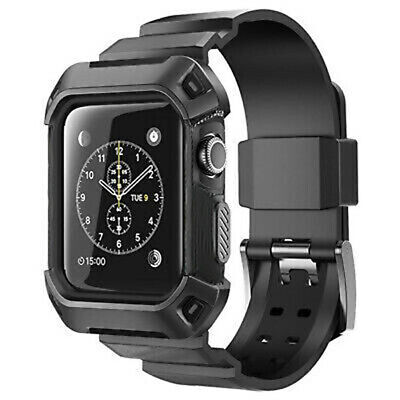 AU15.99 • Buy Heavy Duty Tough Armor IWatch Case Strap Band For Apple Watch Sport Series 3 2 1