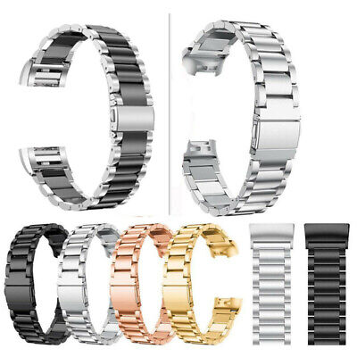 AU19.99 • Buy Stainless Steel Charge3 Watch Band Metal Strap Bracelet For Fitbit Charge 2 /2HR