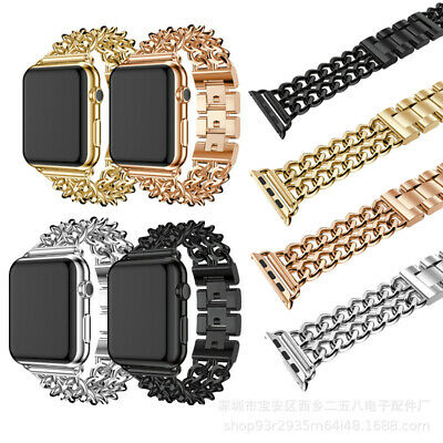 AU20.99 • Buy CowBoy Double Chain Metal Watch Band For Apple Watch IWatch Series 5 4 3 2 1
