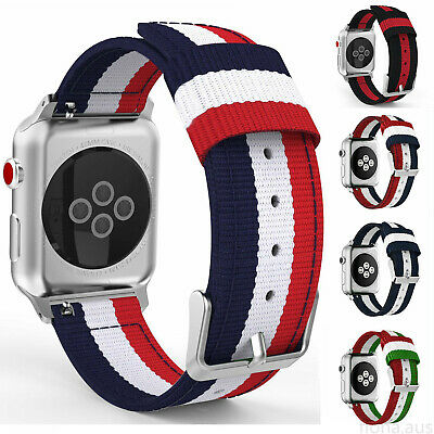 AU16.99 • Buy For Apple Watch Series 5/4/3/2/1 Band Woven Nylon Watch Strap Sports IWatch Band