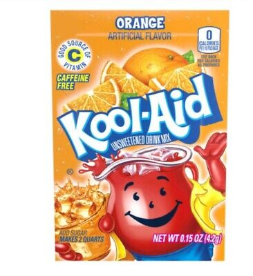 Kool-Aid Drink Mix Orange 8 Packets New  🍊 🍊🍊🍊 🍊🍊🍊🍊🍊🍊🍊🍊🍊🍊🍊🍊🍊🍊 • 4.59£