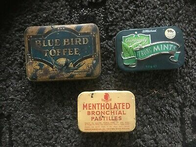 3 X Very Old Small Sweet Tins • 2.50£