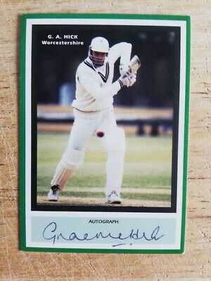£9.95 • Buy Graeme Hick Worcestershire  England Cricket Legend Hand-signed Trading Card