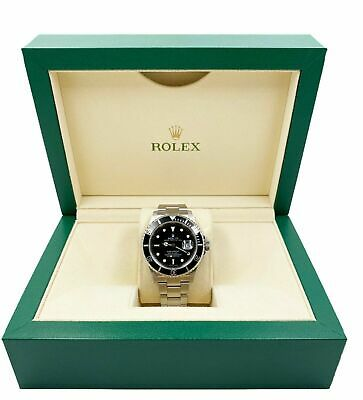 $ CDN10876.97 • Buy Rolex Submariner 16610 Black Dial Black Bezel Stainless Steel 40mm