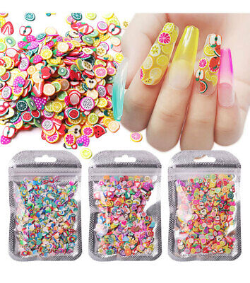 AU6.99 • Buy 1000pcs Nail Art 3D Fruit & Animals Slice Tips Sticker Decoration DIY Clay Craft