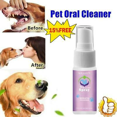 Dental Pet Spray Dog Breath Freshener Teeth Cleaner For Cats And Dogs • 2.39£