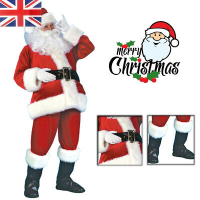 Santa Claus Costume Adult Christmas Fancy Dress Xmas Outfit Men Cosplay Clothing • 6.49£