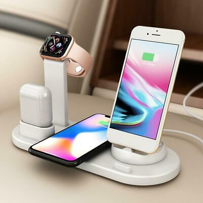 AU34.99 • Buy 3 In 1 Wireless Charger Fast Charging Dock Stand For Airpods Apple Watch IPhone