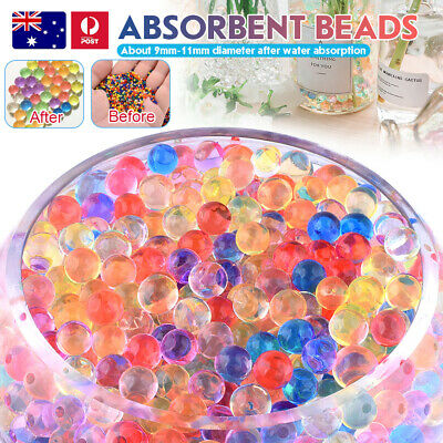 AU7.59 • Buy 10000/50000pcs Crystal Water Balls Jelly Gel Beads For Vases Orbeez MultiColor