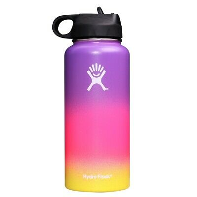$26.50 • Buy Hydro Flask 32 Oz Straw Lid Stainless Steel Leak Proof Multi Color Purple