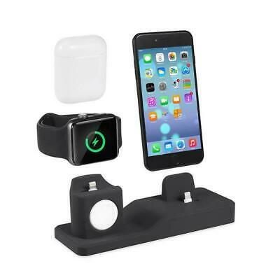 AU29.99 • Buy 3 In1 Charging Dock Charger Station Stand For Apple Watch Series/Air Pod/iPhone