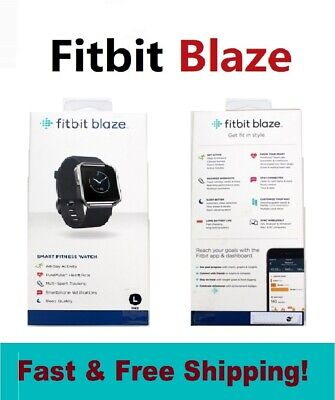 AU100.32 • Buy Fitbit Blaze FB502SBKL Smart Fitness Watch Sleep Activity Tracker HR Black Large