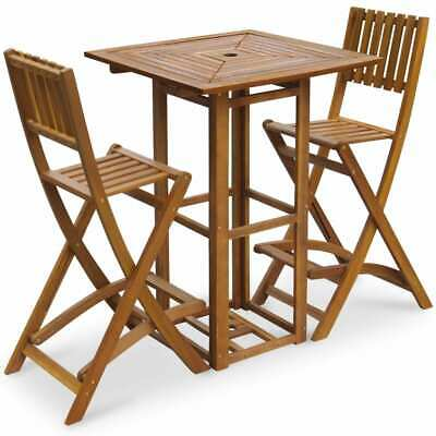 AU322.95 • Buy Outdoor Bar Set Wooden Table And Chairs Bistro Pub Home Setting Decor Furniture