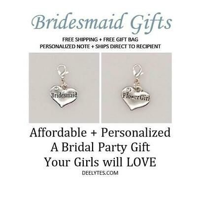 $3 • Buy Personalized Wedding Charm On Lobster Claw, Bridal/Engagement/Bachelorette Favor