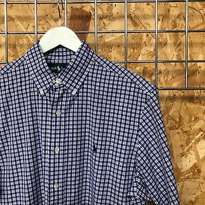 Ralph Lauren, Short Sleeve Micro Check Shirt M MEDIUM Classic Fit Gingham • 12£