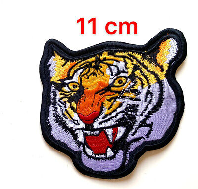 Bengal Tiger Biker Motorcycle 11cm  Sew On Iron On Patch Embroidered Badge New • 1.99£