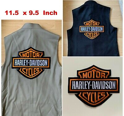 XXL-Harley Davidson Embroidered Motorcycle Patch/Badge Iron/Sew On, JACKET, VEST • 19.99£
