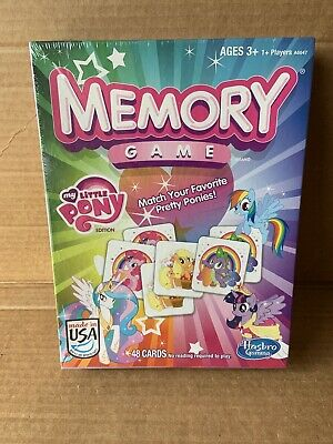 Hasbro My Little Pony Memory Kids Learning Matching Card Game • 14.14£