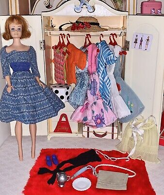$ CDN64.59 • Buy Vintage Barbie Doll & Wardrobe With Clothes & Accessories Lot