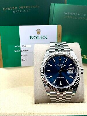 $ CDN14861.96 • Buy BRAND NEW Rolex 126334 Datejust 41 Blue Dial Stainless Box Paper STICKERS 2020