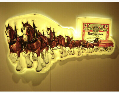 $ CDN1585.44 • Buy Large Vintage Budweiser Clydesdale Lighted Beer Sign