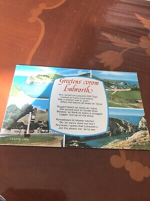 £1 • Buy Greetens Vrom Lulworth 1970s Postcard Castle Inn,Stair Hole,From The Downs& Cove