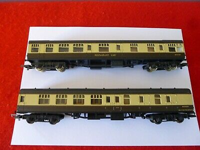'oo' Gauge Lima Two Mark 1 Coaches In Chocolate & Cream Livery • 11.99£