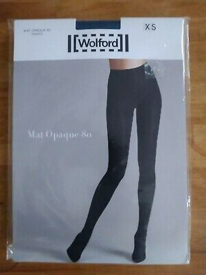Wolford Mat Opaque 80 Tights.XS Stellar Blue NEW  RRP £35. • 3.20£