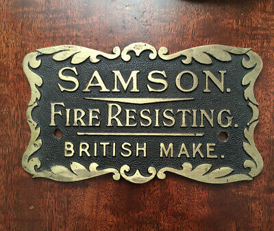Antique/vintage Samson Safe Plaque/Plate Lovely Condition! • 29.99£