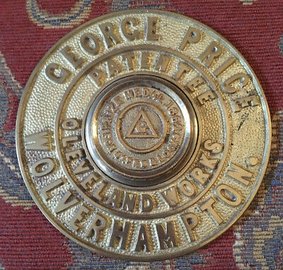 A Rare Cast Brass George Price Antique Safe Plaque/Plate Escutcheon • 34£