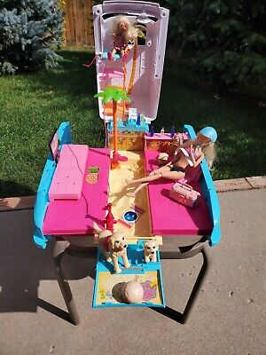 $42.50 • Buy Barbie Ultimate Puppy Mobile Van SUV Pet Camper With Dolls And Accessories