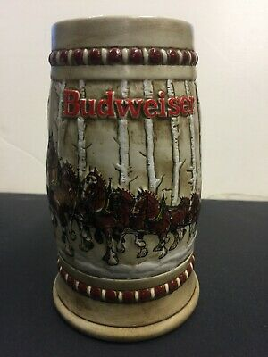 $ CDN131.56 • Buy  Limited Edition ~ 1981 Budweiser Holiday Stein / Snow Covered Birch Trees