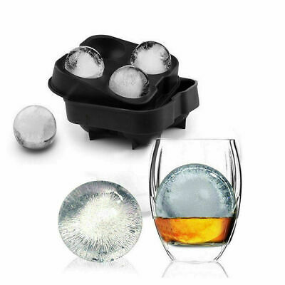 Ice Cube Tray Ball Maker Mold SphereRound Whiskey Mould Tool DIY  • 3.99£