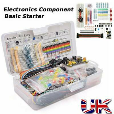 Electronic Component Starter Kit Wires Breadboard Buzzer Resistor LED Transistor • 11.79£