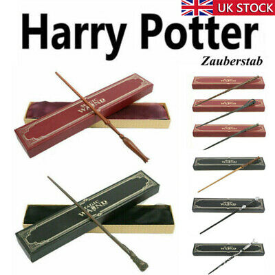 Magic Wand Harry Potter Hermione Dumbledore Voldemort Metal Wand Toy Gift Box UK • 10.99£