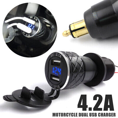 £6.77 • Buy For BMW R1200GS Triumph Tiger Hella DIN To 4.2A Dual/2 USB Charger Motorcycle