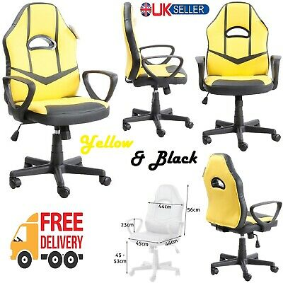 Gaming Racing Executive Office Home Computer Desk Chair PU Leather Swivel Seat • 57.99£