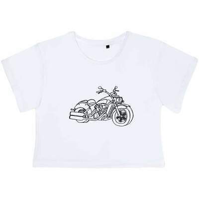 'Motorcycle' Women's Cotton Crop Tops (CO024722) • 13.99£