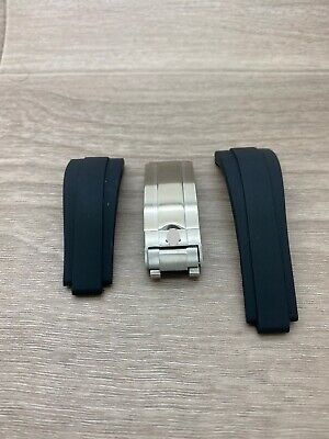 20 Mm Replacement Oysterliex Rolex Silicone Rubber Strap With Deployment Buckle • 38£