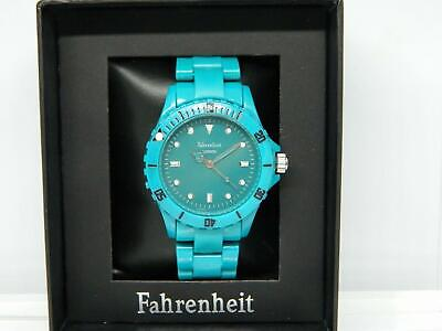 Fahrenheit Colours Unisex Bracelet Watch In Turquoise With Rotating Bezel, 1ATM • 21.99£