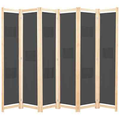 AU94.95 • Buy Large Room Divider 6 Fabric Panel Folding Bedroom Privacy Stand Home Partition